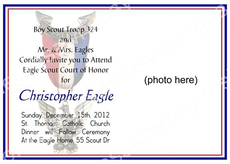 bsa blue card word template eagle scout invitations template best template collection