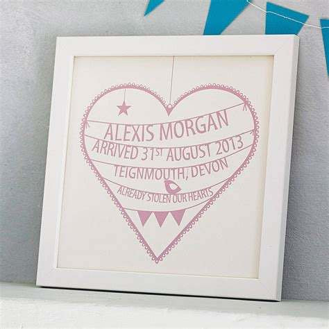gifts uk personalised new baby print by modo creative