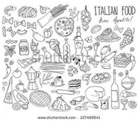 doodle food ltd 43227246 vector food set ink drawing vector elements stock