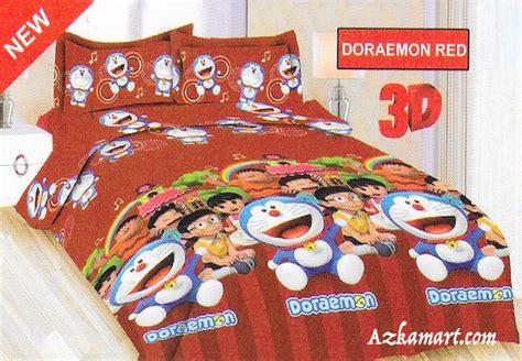 Sprei Katun Motif Doraemon jual sprei katun jepang jual bedcover dan sprei
