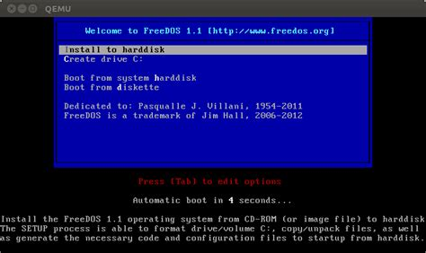 format hard disk by dos freedos 1 1 bootable usb image joe s blog