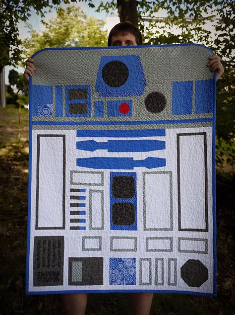 R2d2 Quilt awesome made wars r2 d2 quilt mightymega