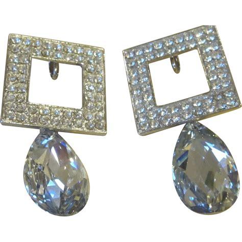feinberg vintage runway statement earrings from