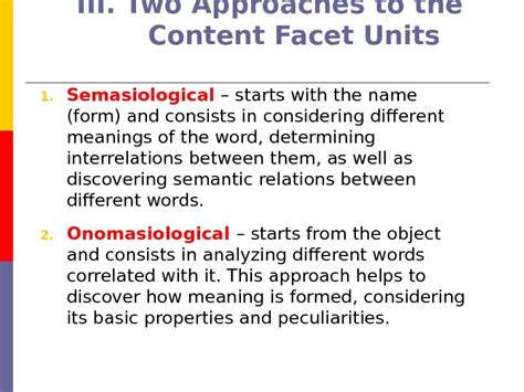 types meaning semasiology lecture 1 plan 1 approaches to