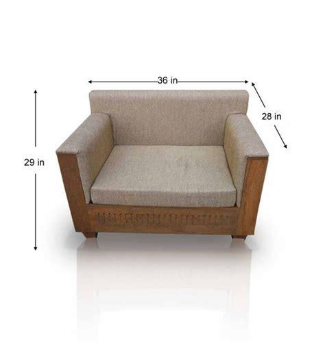 Cassia Mango Wood Single Seater Sofa by Mudramark Online