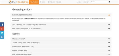 faqs template 10 user friendly faq page templates support themes