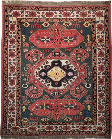 6x7 area rug green 6x7 wool on wool kazak handmade area rug ebay