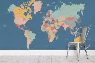 map of the world wall mural navigator kids world map wall mural milexa