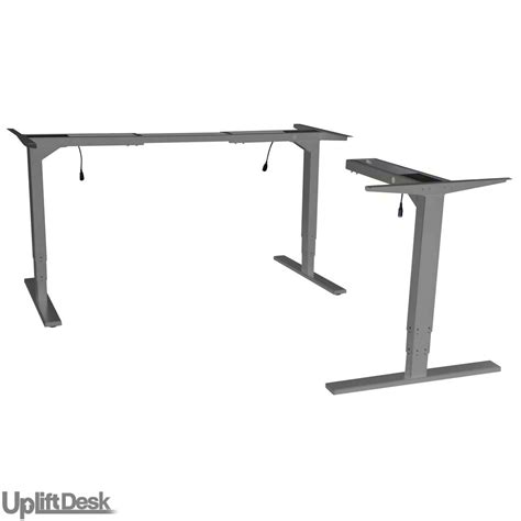 adjustable height desk legs shop uplift 950 height adjustable 3 leg standing desk bases