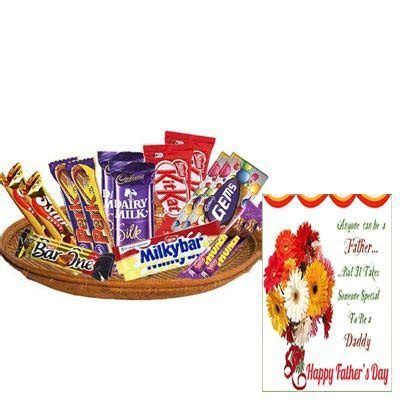 Buy/Send Exclusive Chocolate Basket With Fathers Day Card