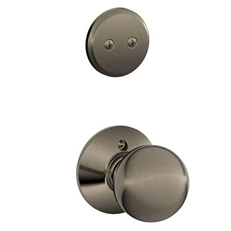 Shop Schlage Orbit 1 5 8 In To 1 3 4 In Antique Pewter Non Keyed Interior Door Knob