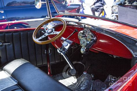 Vintage Cer Interior by 1929 Ford Phaeton Classic Car Interior Antique In Color