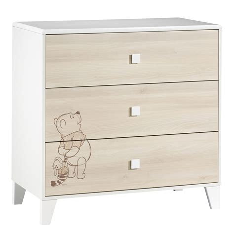 Commode Winnie by Winnie L Ourson Commode 3 Tiroirs Beige De Sauthon Baby S