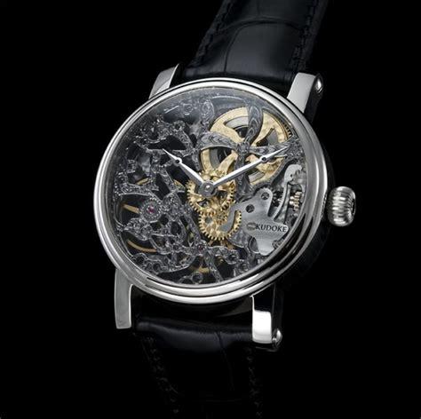 Handmade Watches - black kudoke the master of skeleton watches