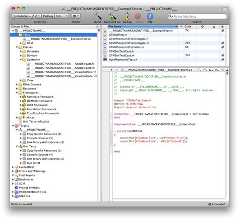 Custom Xcode Templates For Iphone Development Xcode Project Templates Explained