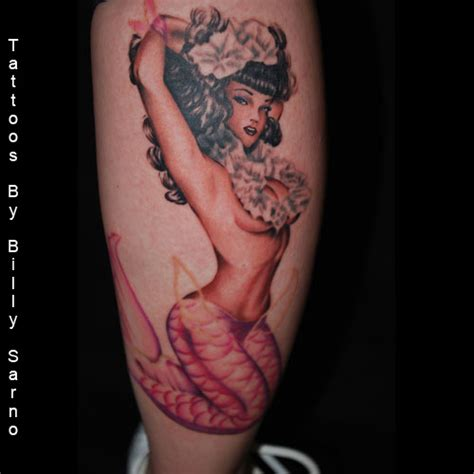 pinup mermaid tattoo mermaid pin up tattooshunt