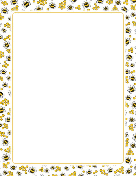 printable bee stationery a page border with bees and honeycombs free downloads at