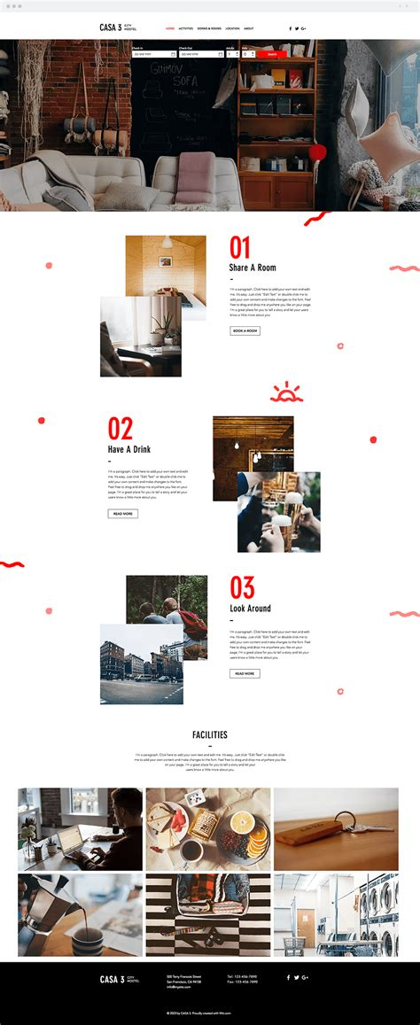 templates for hostel website 11 new beautiful wix website templates you will love