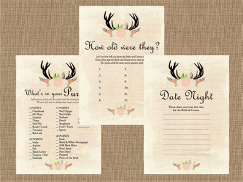free printable rustic bridal shower games rustic country bridal shower game pack magical printable