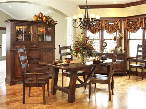 Dining Room Sets Chicago Early American Country Farmhouse Dining Room Set Amish Furniture Solid Wood Mission Shaker
