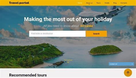 25 free and premium html travel website templates webprecis