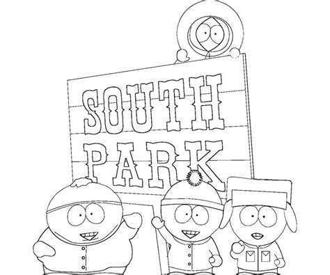 South Park Coloring Pages Coloring Home South Park Coloring Pages