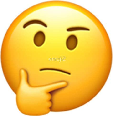 emoji thinking quot emoji think quot stickers by emoji2 redbubble