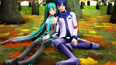 anime couple under a tree mmd sleeping under the tree mikaito by mrxumxum on