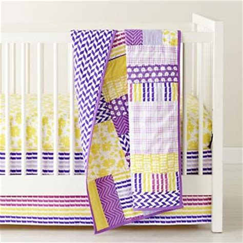 Land Of Nod Quilt the land of nod crib quilts purple patchwork crib quilt in baby quilts blankets