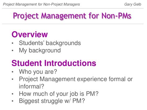 How Much Is Mba Nyu by Project Management For The Non Project Manager
