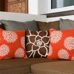 Sofa Pillows Contemporary Floral Modern Eco Throw Pillows For Modern San Diego By Wabisabi Green