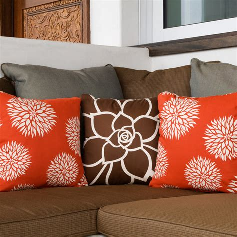 Modern Pillows For Sofas Floral Modern Eco Throw Pillows For Modern San Diego By Wabisabi Green