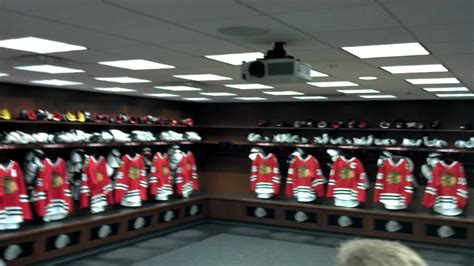 chicago blackhawks locker room inside blackhawks locker room