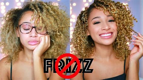 how i get rid of frizzy puffy hair for days helpful how to get rid of frizzy curly hair youtube
