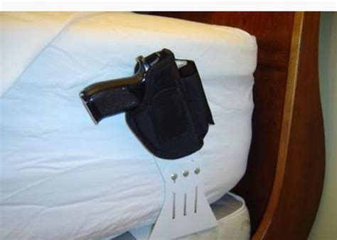 bed holster hand gun bed holster cool stuff pinterest holsters