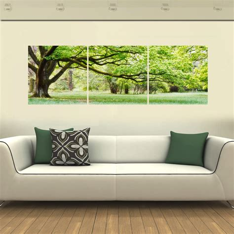 4 panels framed green tree painting new arrivals printings