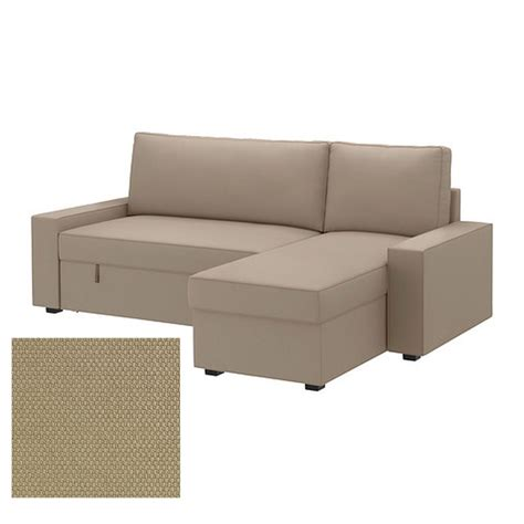 Sofa Bed Slip Cover Ikea Vilasund Sofa Bed With Chaise Slipcover Sofabed Cover Dansbo Beige