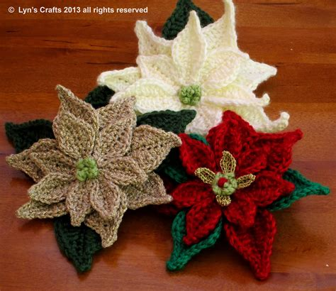 pattern crochet poinsettia evanescence christmas crochets