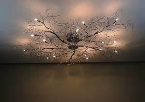 tree branch light fixture tree branch chandelier decor ideas pinterest