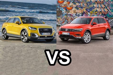 Audi Vs Vw by 2017 Audi Q2 Vs 2016 Volkswagen Tiguan Design