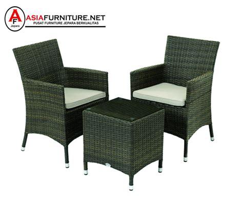 set kursi teras rotan sintetis hotel makassar asia furniture