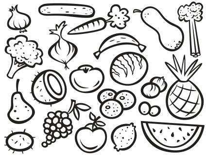 fruit and vegetable coloring pages chiba syaken info