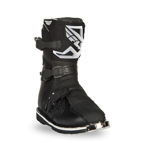 atv boots for fly racing black mens maverik dual sport atv dirt bike