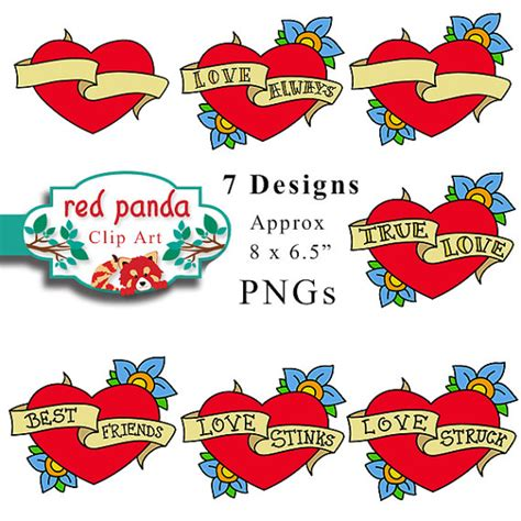 free heart with banner tattoo download free clip art