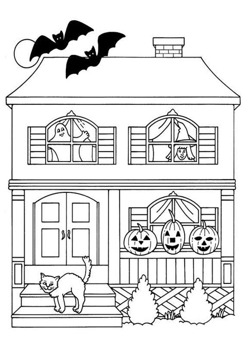 scary haunted house coloring pages 49 best halloween drawings images on pinterest halloween