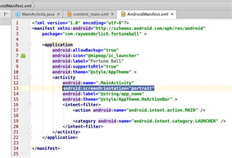 Android Manifest by Beginning Android Development Part Two Using Android Studio