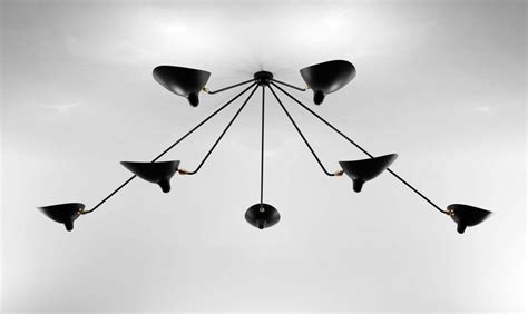 serge mouille lade serge mouille ceiling l quot spider quot 7 fixed arms