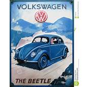 Vintage Advert Of Volkswagen Beetle Editorial Stock Image