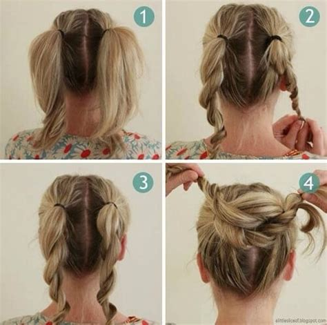 easy messy buns for shoulder length hair 60 diy easy updos for medium hair hair motive hair motive