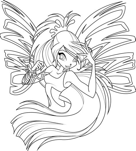 bloom sirenix coloring page by icantunloveyou on deviantart